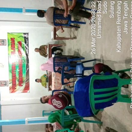 Sosialisasi pencegahan virus Corona (covid-19) oleh pemerintah desa